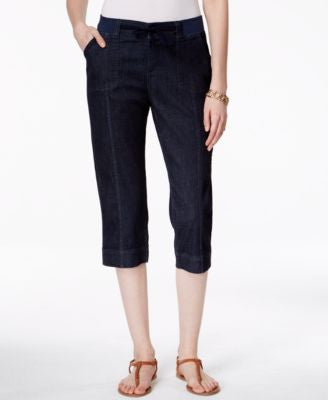 Lee Platinum Denim Rinse Wash Capri Pants