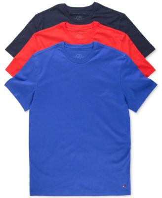 Tommy Hilfiger Men's Classic Crew T-Shirts Multicolored 3-Pack