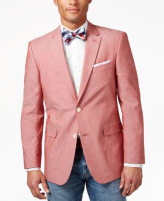Tommy Hilfiger Red Chambray Classic-Fit Sport Coat