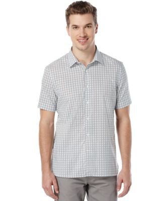 Perry Ellis Slim-Fit Geo Square Print Shirt