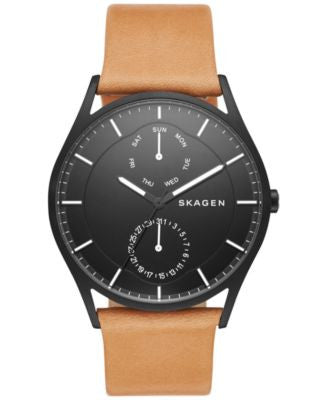 Skagen Men's Holst Natural Leather Strap Watch 40mm SKW6265