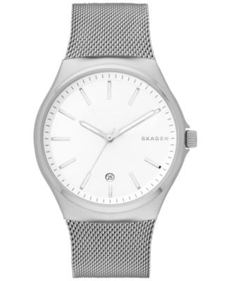 Skagen Men's Sundby Stainless Steel Mesh Bracelet Watch 42mm SKW6262