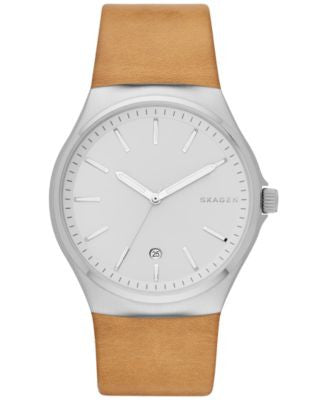 Skagen Men's Sundby Natural Leather Strap Watch 42mm SKW6261