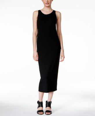 Eileen Fisher Sleeveless Scoop-Neck Midi Dress