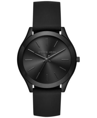Michael Kors Women's Slim Runway Sporty Black Silicone Strap Watch 42mm MK2513, Only at Vogily