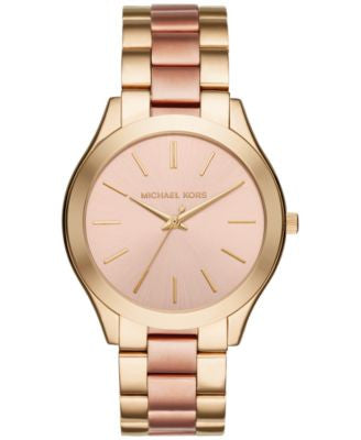 Michael Kors Women's Slim Runway Two-Tone Stainless Steel Bracelet Watch 42mm MK3493