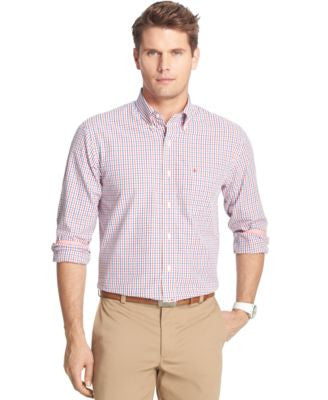IZOD Men's Parker Tattersall Long-Sleeve Shirt