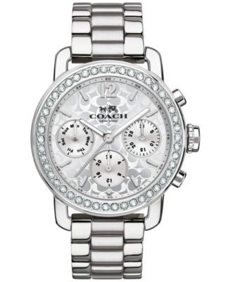 COACH WOMEN'S CHRONOGRAPH LEGACY SPORT STAINLESS STEEL BRACELET WATCH 36MM 14502369