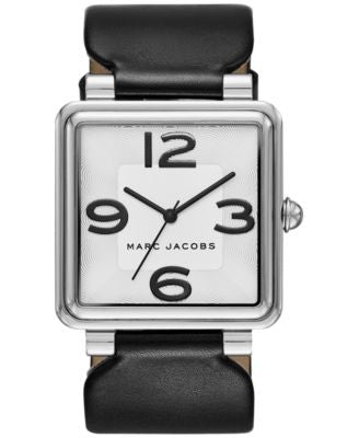 Marc Jacobs Women's Vic Black Leather Strap Watch 34mm MJ1439