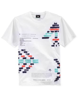 LRG Men's Glyph Blocks Graphic-Print T-Shirt