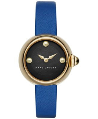 Marc Jacobs Women's Courtney Blue Leather Strap Watch 28mm MJ1434