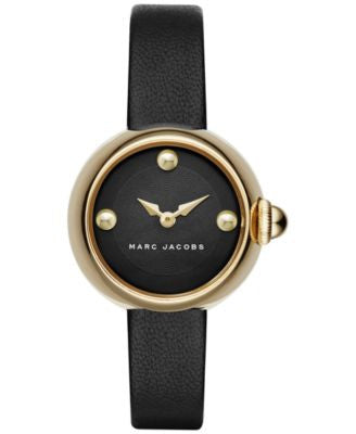 Marc Jacobs Women's Courtney Black Leather Strap Watch 28mm MJ1432