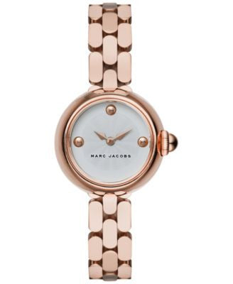 Marc Jacobs Women's Courtney Rose Gold-Tone Stainless Steel Bracelet Watch 28mm MJ3458