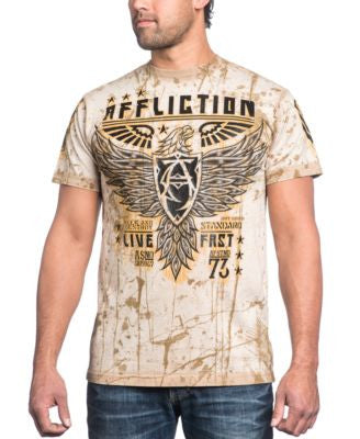 Affliction Men's Rhetoric Rust Graphic-Print Logo T-Shirt