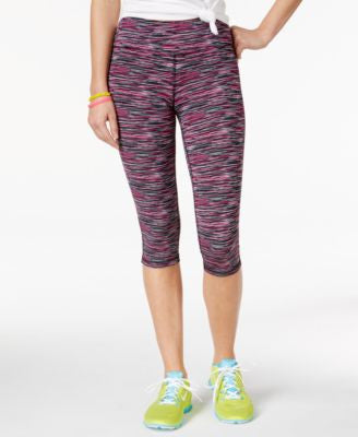 Material Girl Active Space-Dyed Cropped Leggings, Only at Vogily