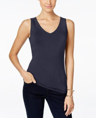 INC International Concepts Petite V-Neck Top, Only at Vogily