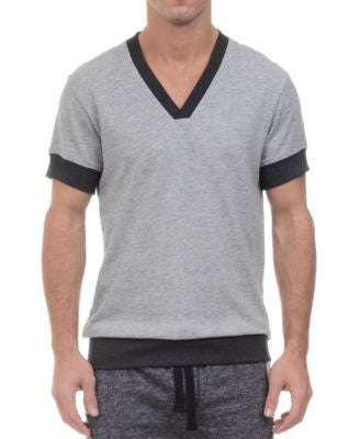 2(x)ist Men's V-Neck Short-Sleeve Sweatshirt