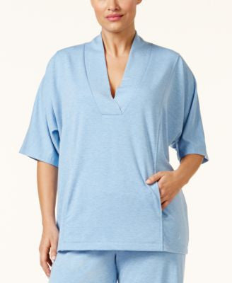 Nautica Plus Size Shawl-Collar Pajama Top