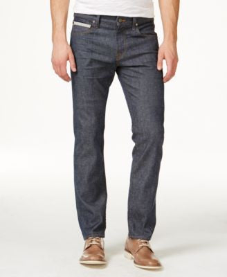 7 For All Mankind Men's Slim-Straight Fit Stretch Selvedge Jeans