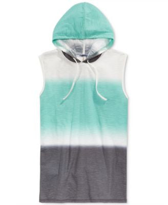Univibe Men's Aether Colorblocked Hoody Muscle T-Shirt