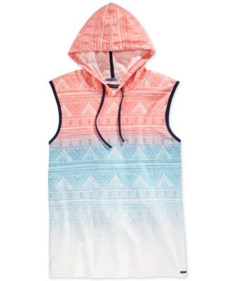Univibe Men's Indigenous Ombré Tribal-Print Hoodie Muscle T-Shirt