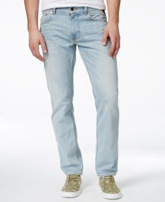LRG Men's RC True Tapered-Fit Sunbleached Wash Jeans