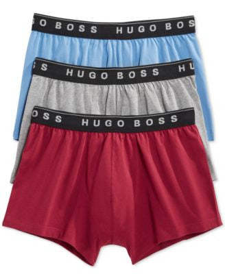 Hugo Boss Men's Stretch Trunks, 3 Pack