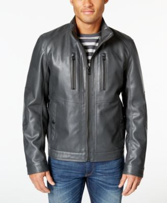 MICHAEL Michael Kors Men's Antony Faux Leather Jacket