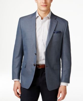 Lauren Ralph Lauren Men's Blue and Black Neat Classic-Fit Sport Coat