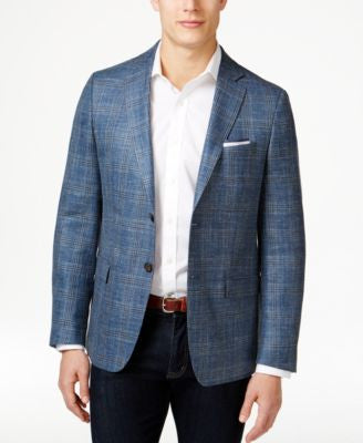 Lauren Ralph Lauren Men's Blue Glen Plaid Classic-Fit Sport Coat