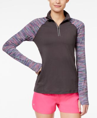 Ideology Printed Quarter-Zip Top, Only at Vogily