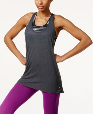 Ideology Layered Low-Impact Sports Bra Tank Top, Only at Vogily