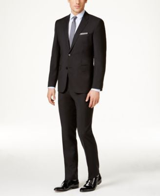 HUGO by Hugo Boss Men's Black Slim-Fit Suit Separates