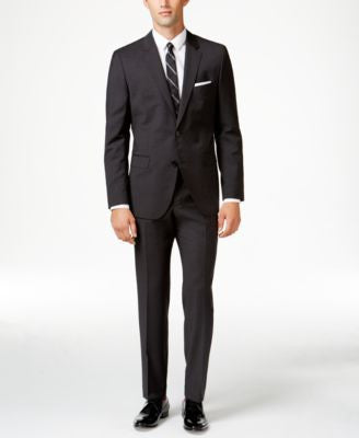 HUGO by Hugo Boss Men's Charcoal Slim-Fit Suit Separates