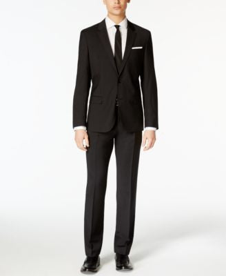 HUGO by Hugo Boss Men's Black Extra Slim-Fit Suit Separates
