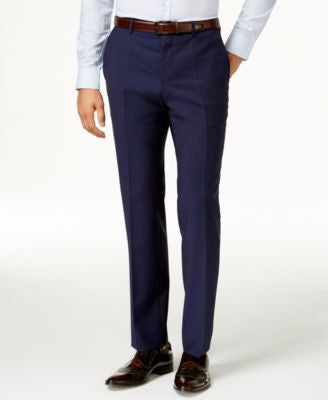 HUGO by Hugo Boss Men's Blue Extra Slim-Fit Pants