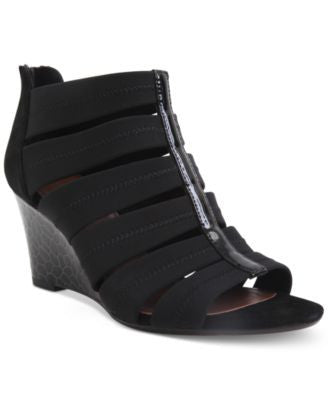 Donald J Pliner Jada Cage Wedge Sandals