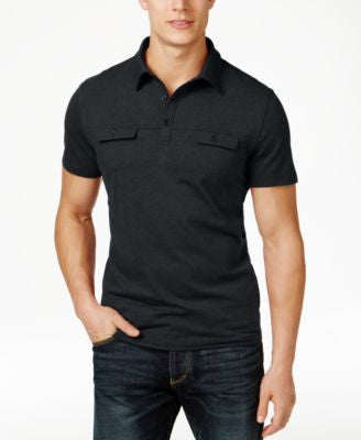 Alfani Men's Big and Tall Two-Tone Polo, Only at Vogily