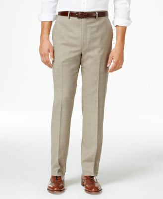 Lauren Ralph Lauren Men's Wool Windowpane Flat Front Classic-Fit Dress Pants