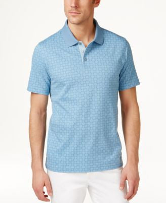 Tasso Elba Men's Big & Tall Diamond-Print Polo, Only at Vogily