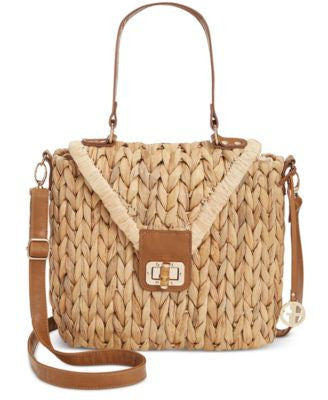 Giani Bernini Braided Straw Top Handle Crossbody, Only at Vogily