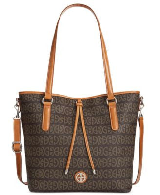 Giani Bernini Signature Magnetic Snap Tote, Only at Vogily