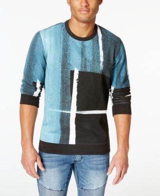 INC International Concepts Men's Grunge Print Sweatshirt, Only at Vogily