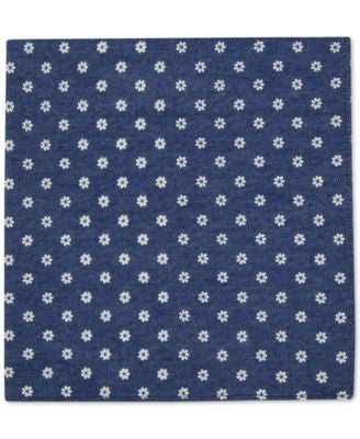Tommy Hilfiger Men's Petaled Flower Print Pocket Square
