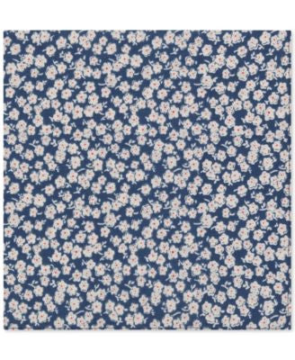 Tommy Hilfiger Men's White Flower Print Pocket Square