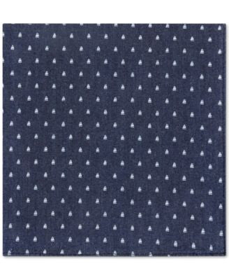Tommy Hilfiger Men's Sailboat-Print Denim Pocket Square