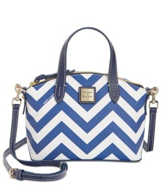 Dooney & Bourke Chevron Mini Ruby Satchel