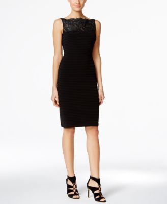Calvin Klein Sequined Illusion Sheath Dress