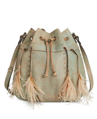 Patricia Nash Washed Denim Picerno Drawstring Crossbody