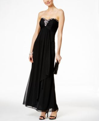 X by Xscape Embellished Sweetheart Strapless Gown